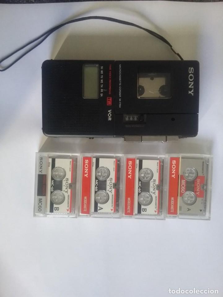 GRABADORA SONY CON CINTAS (Radios, Gramófonos, Grabadoras y Otros - Transistores, Pick-ups y Otros)