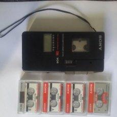 Radios antiguas: GRABADORA SONY CON CINTAS. Lote 271670128