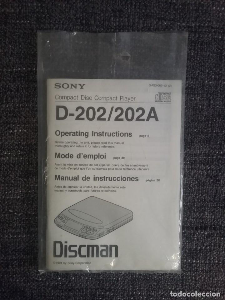Radios antiguas: Discman SONY con folleto y transformador - Foto 2 - 271670673