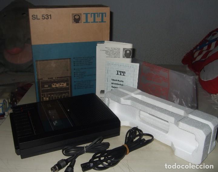 REPRODUCTOR GRABADOR DE CASSETTE ITT - SL 531 - APTO PARA COMPUTADORA (A ESTRENAR) (Radios, Gramófonos, Grabadoras y Otros - Transistores, Pick-ups y Otros)