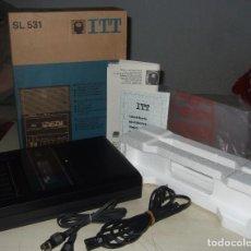Radios antiguas: REPRODUCTOR GRABADOR DE CASSETTE ITT - SL 531 - APTO PARA COMPUTADORA (A ESTRENAR). Lote 271693823
