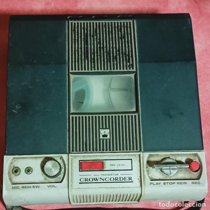 Radios antiguas: Crowncorder transistor velocidades grabadora de carrete a carrete CTR-3000 Muy rara - Foto 2 - 273963073