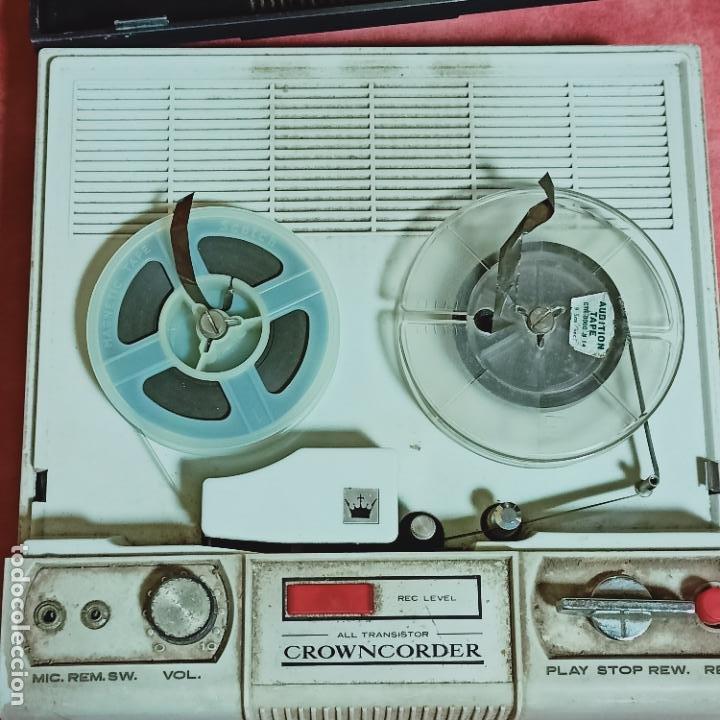 Radios antiguas: Crowncorder transistor velocidades grabadora de carrete a carrete CTR-3000 Muy rara - Foto 3 - 273963073