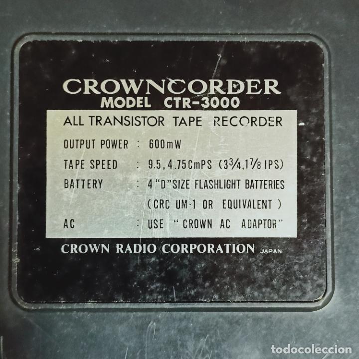 Radios antiguas: Crowncorder transistor velocidades grabadora de carrete a carrete CTR-3000 Muy rara - Foto 4 - 273963073