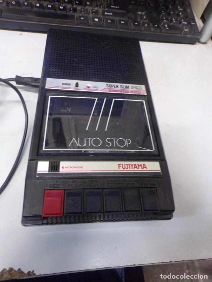 Radios antiguas: cassette recorder super slim computer fujiyama funcionando - Foto 2 - 274231473