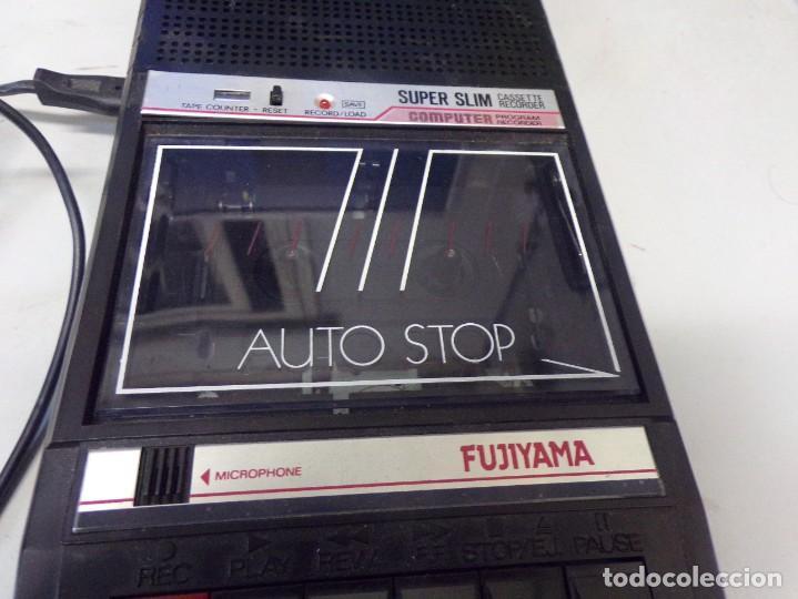 Radios antiguas: cassette recorder super slim computer fujiyama funcionando - Foto 3 - 274231473