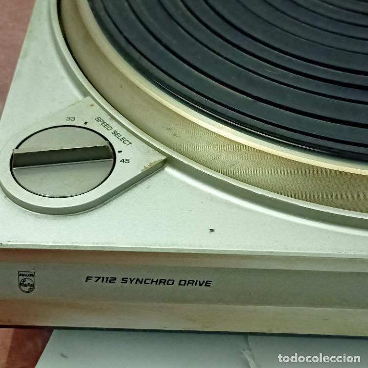 Radios antiguas: Tocadiscos Philips vintage F7112 Syncrho Drive. - Foto 3 - 274929353