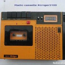 Radios antiguas: RADIO-CASSTTE RECORDER VINTAGE KÖNIGER RADIO-CASSTTE RECORDER VINTAGE KÖNIGER. Lote 275781668