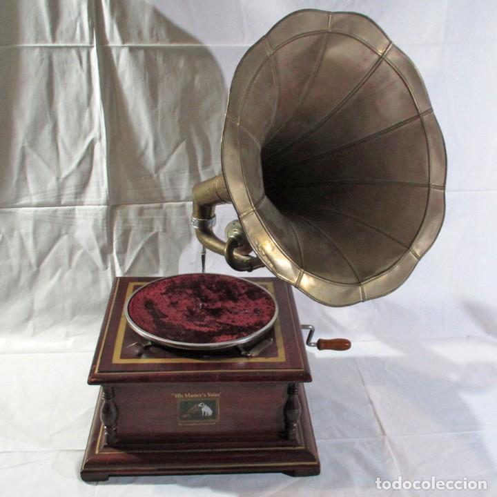 GRAMÓFONO LA VOZ DE SU AMO, FUNCIONANDO (Radios, Gramófonos, Grabadoras y Otros - Transistores, Pick-ups y Otros)