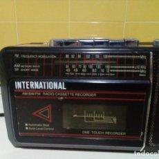Radios antiguas: RADIO CASSETTE VINTAGE MARCA INTERNATIONAL. Lote 277039883
