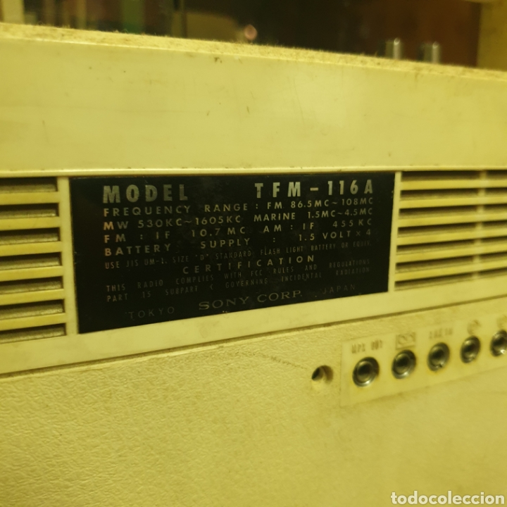 Radios antiguas: Radio Sony TFM 116 A - Foto 4 - 277474623