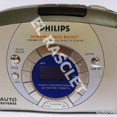 Radios antiguas: ANTIGÜO RADIO CASSSETTE WALMAN PHILIPS - AUTO REVERSE - MOD. AQ6688 - ALIMENTACIÓN A PILAS. Lote 277475568