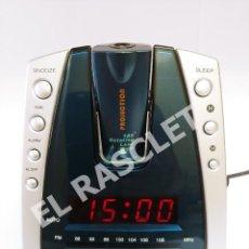 Radios antiguas: RADIO RELOJ DESPERTADOR DIGITAL MARCA CLIP SONIC - MODELO AR244 - PROYECCION DE 180º. Lote 277511838