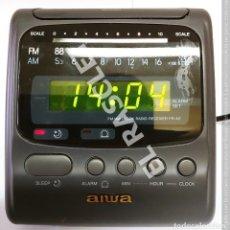 Radios antiguas: RADIO RELOJ DESPERTADOR DIGITAL MARCA AIWA MODELO FR-A2 NUEVO EN SU CAJA ORIGINAL Y MANUAL. Lote 277518203