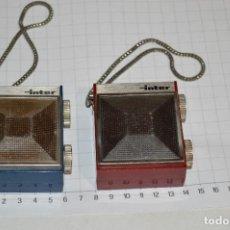Radios antiguas: UN ICONO AÑOS 60 / 2 RADIOS TRANSISTORES INTER / MODELO SLIMTRANSCOLOR - 2 COLORES ¡MIRA FOTOS!. Lote 277582813