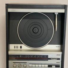 Radios antiguas: EQUIPO DE MÚSICA DOBLE PLETINA TOCADISCOS LINEAL VERTICAL Y AMPLIFICADOR AÑOS 70-80 BUSH. Lote 277708038
