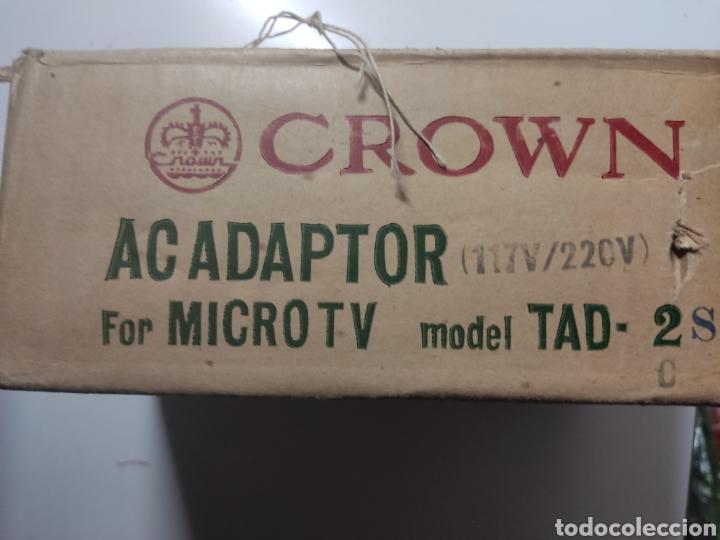 Radios antiguas: ADAPTADOR CROWN PARA MICRO TV model TAD 2 Japan - Foto 2 - 281840363