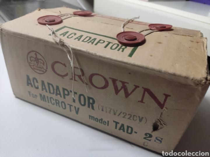 ADAPTADOR CROWN PARA MICRO TV MODEL TAD 2 JAPAN (Radios, Gramófonos, Grabadoras y Otros - Transistores, Pick-ups y Otros)