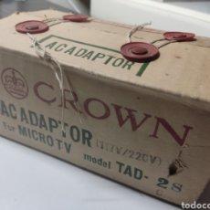 Radios antiguas: ADAPTADOR CROWN PARA MICRO TV MODEL TAD 2 JAPAN. Lote 281840363