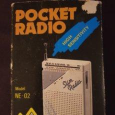 Radios Anciennes: TRANSISTOR POCKET RADIO, SLIM RADIO. Lote 283142123