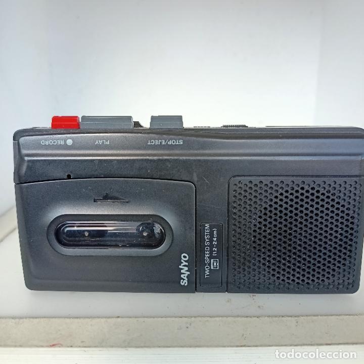 SANYO MODEL TRC 510 M MICRO CASSETTE TAPE RECORDER FUNCIONANDO (Radios, Gramófonos, Grabadoras y Otros - Transistores, Pick-ups y Otros)