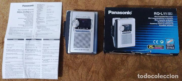WALKMAN GRABADORA MINI CASSETTE RECORDER RQ-L11 (PANASONIC) (Radios, Gramófonos, Grabadoras y Otros - Transistores, Pick-ups y Otros)