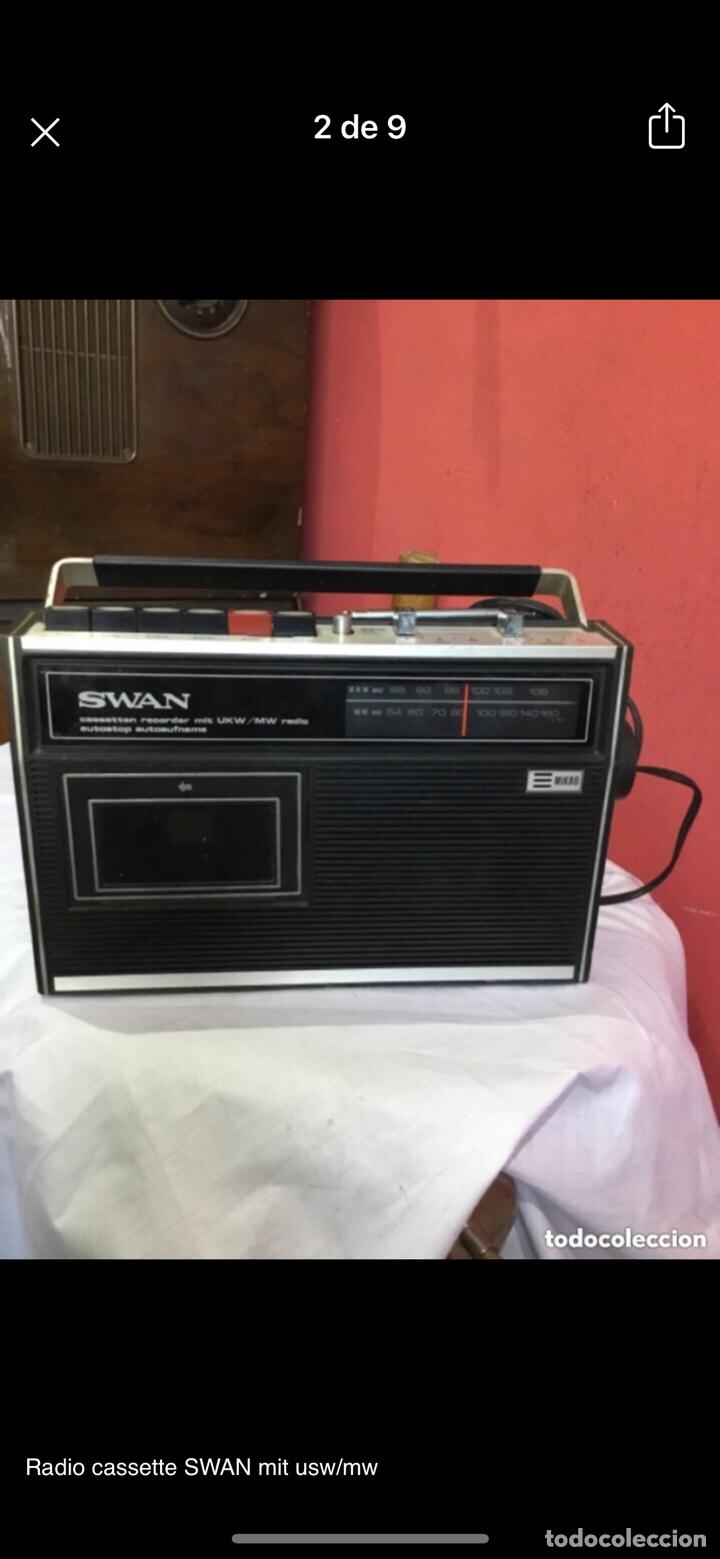 Radios antiguas: Radio cassette SWAN mit usw/mw - Foto 2 - 286311848