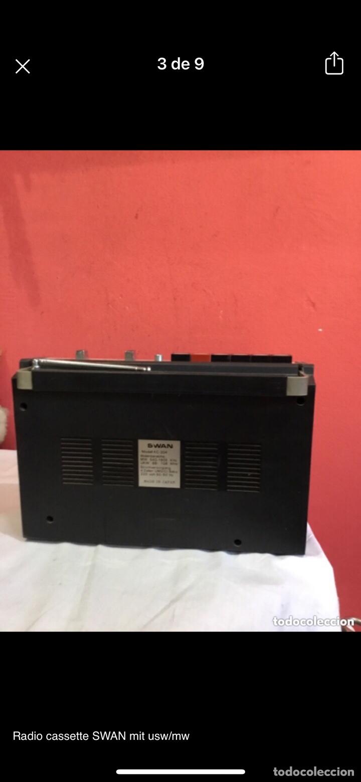 Radios antiguas: Radio cassette SWAN mit usw/mw - Foto 3 - 286311848