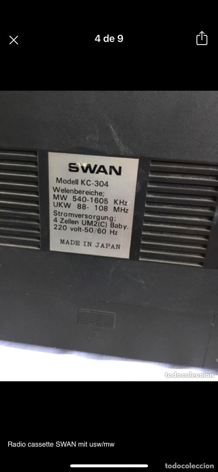 Radios antiguas: Radio cassette SWAN mit usw/mw - Foto 4 - 286311848