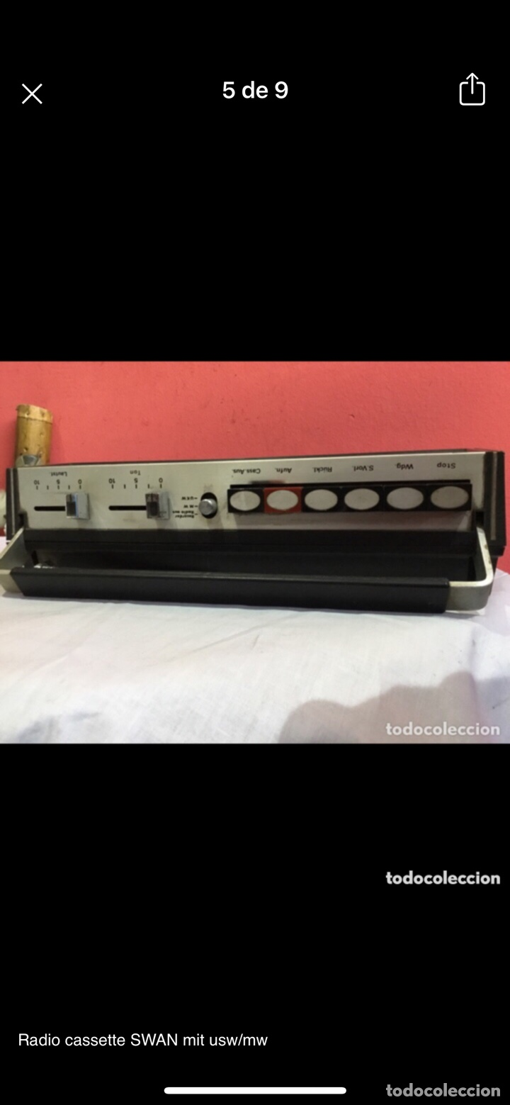 Radios antiguas: Radio cassette SWAN mit usw/mw - Foto 5 - 286311848