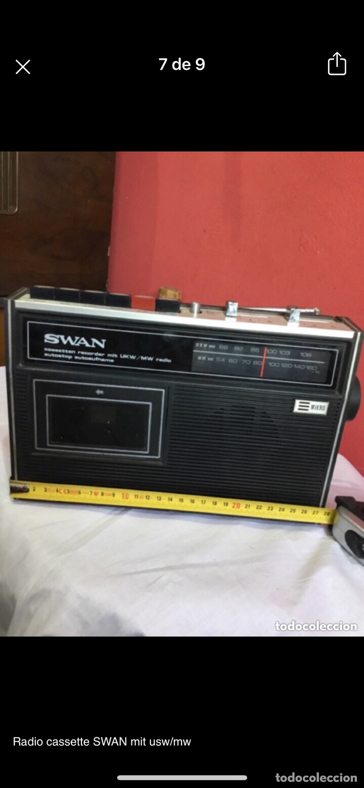 Radios antiguas: Radio cassette SWAN mit usw/mw - Foto 7 - 286311848