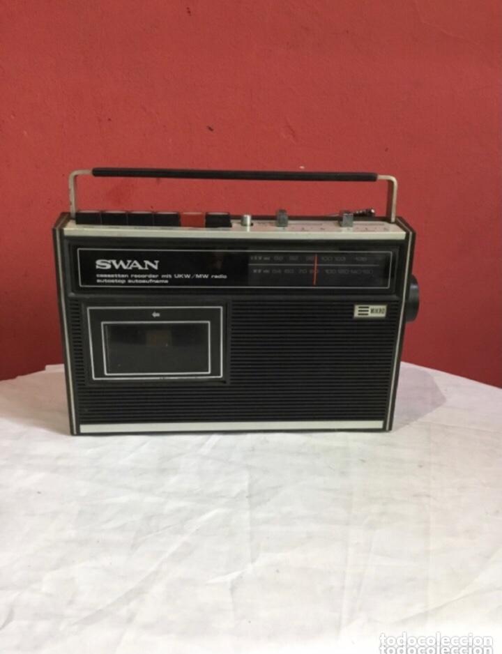 RADIO CASSETTE SWAN MIT USW/MW (Radios, Gramófonos, Grabadoras y Otros - Transistores, Pick-ups y Otros)