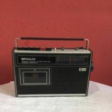 Radios antiguas: RADIO CASSETTE SWAN MIT USW/MW. Lote 286311848