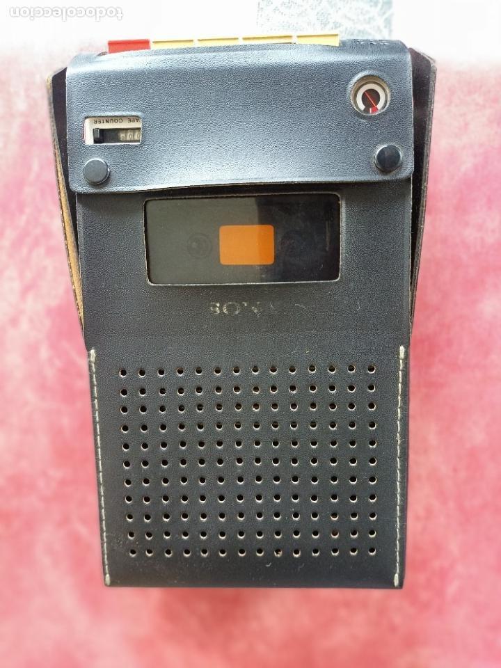 Radios antiguas: Vintage Sony TC-110B Cassette Recorder en su funda como nuevo funcionando grabadora cintas altavoz - Foto 7 - 286467963