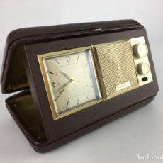 Radios antiguas: RADIO RELOJ DESPERTADOR SAXONY AÑOS 70. Lote 286947663
