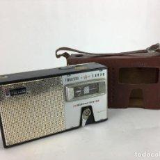 Radios antiguas: RADIO SANYO 8S-P3. TRANSISTOR ALL WAVE. CON FUNDA CUERO. MW SW. Lote 286953728
