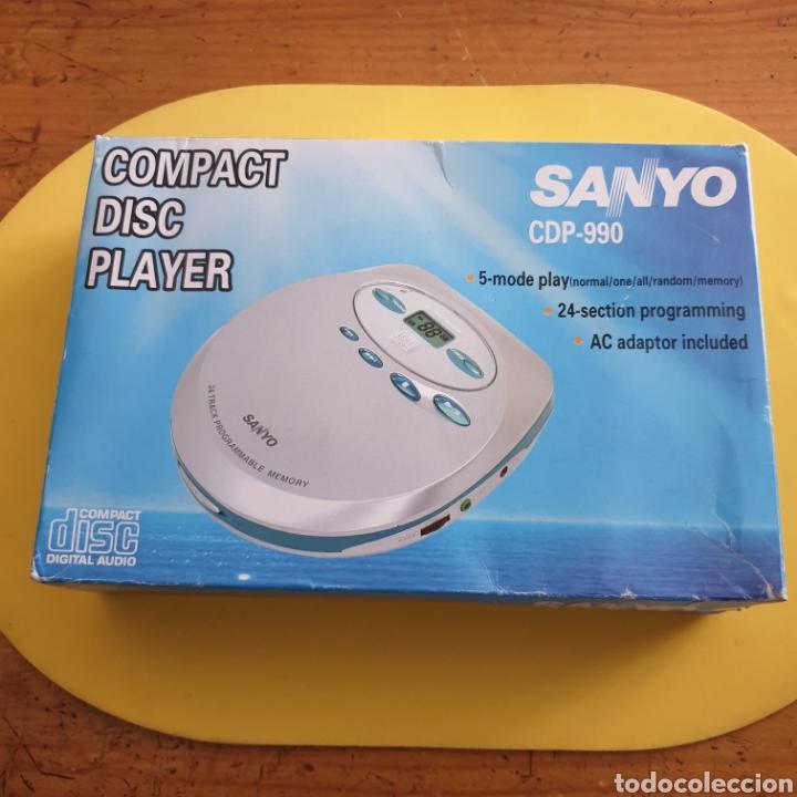 COMPACT DISC PLAYER SANYO CDP-990 MADE IN JAPÓN (Radios, Gramófonos, Grabadoras y Otros - Transistores, Pick-ups y Otros)