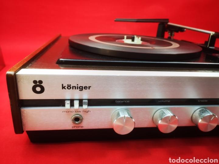 Radios antiguas: Tocadiscos vintage Koniger años 60 - Foto 4 - 287665213