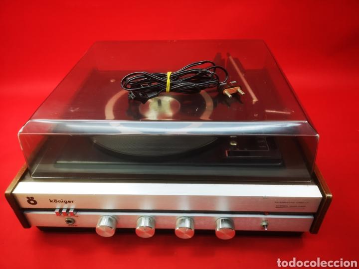 TOCADISCOS VINTAGE KONIGER AÑOS 60 (Radios, Gramófonos, Grabadoras y Otros - Transistores, Pick-ups y Otros)