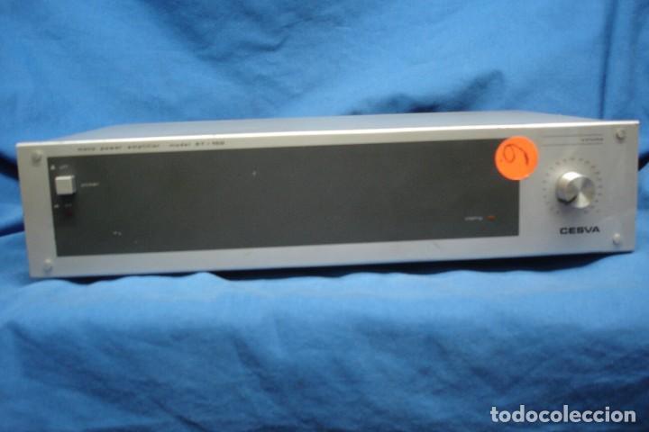 AMPLIFICADOR/ ETAPA DE POTENCIA MARCA CESVA MDLO. ET-100 - MADE IN SPAIN (Radios, Gramófonos, Grabadoras y Otros - Transistores, Pick-ups y Otros)