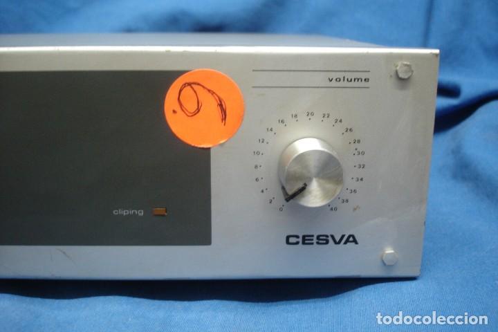Radios antiguas: AMPLIFICADOR/ ETAPA DE POTENCIA MARCA CESVA MDLO. ET-100 - MADE IN SPAIN - Foto 2 - 287672938