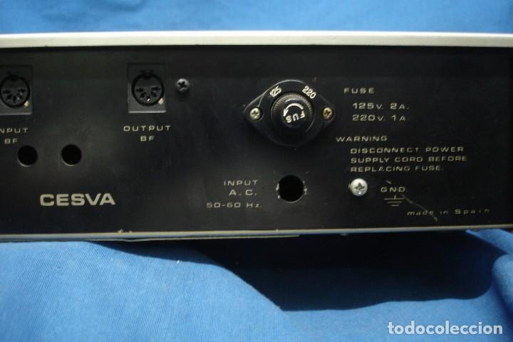 Radios antiguas: AMPLIFICADOR/ ETAPA DE POTENCIA MARCA CESVA MDLO. ET-100 - MADE IN SPAIN - Foto 7 - 287672938