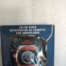 Radios antiguas: WALKMAN RADIO CASSETTE REPSOL ALEX CRIVILLE. Lote 288410168