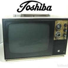 Radios antiguas: ANTIGUA TELEVISION B/N TOSHIBA 11TBE 11 PULGADAS - TOKYO JAPAN 1968- 11 TBE -TV VINTAGE VALVULA. Lote 288986268