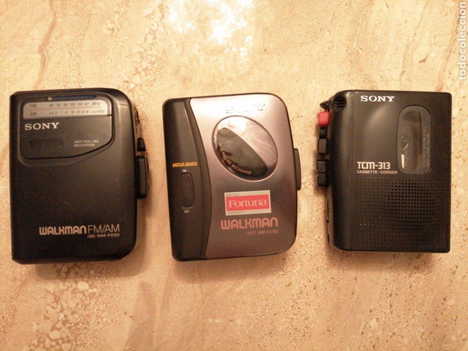 LOTE DE 3 WALKMAN SONY (Radios, Gramófonos, Grabadoras y Otros - Transistores, Pick-ups y Otros)