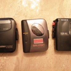 Radios antiguas: LOTE DE 3 WALKMAN SONY. Lote 289717053