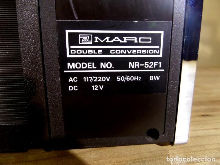 Radios antiguas: RADIO MARC NR-52F1 MULTIBANDA DOBLE CONVERSIÓN - Foto 12 - 289747008
