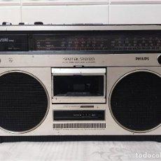 Radios antiguas: RADIO VASSETTE PHILIPS AÑOS 80 TAPE CINTAS. Lote 289763568