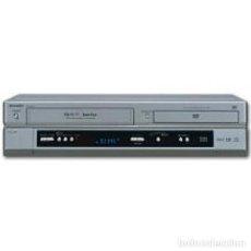 Radio antiche: SHARP COMBO VCR VHS LECTOR GRABADOR + DVD / CD / VIDEO CD PLAYER CON MANDO PEPETO ELECTRONICA. Lote 290135588