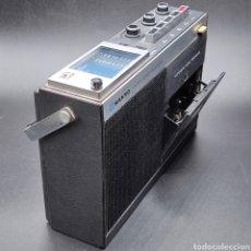 Radios antiguas: RADIO CASETTE VINTAGE SANYO MR-411FN. SIN PROBAR. DIMENSIONES 26X8X17.. Lote 294850358